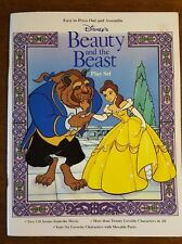 DISNEY'S BEAUTY AND THE BEAST Play Set 3-D Paper Punch-Out Scenes From Movie