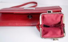 2 PC Kenneth Cole Reaction Red Wristlet Clutch Wallet Organizer & Coin Purse EC