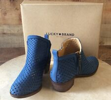 43d29aa3c63a Lucky BRAND Womens BASEL3 Leather Closed Toe Ankle Dark Chambra Size 5.0