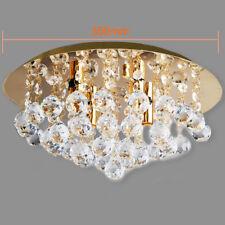 Modern Round Crystal Droplets GOLD Ceiling Chandelier Light