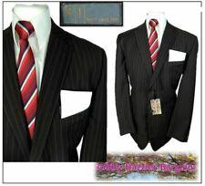 "KJ Karl Jackson mens  2 piece suit Ch46""R W36"" L34"" Brown Pinstripe"