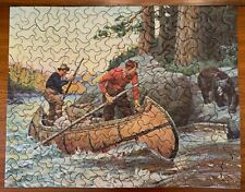 40'S THICK CUT TUCO PUZZLE PHILIP R. GOODWIN HUNTERS MEET BEAR  319 PCS COMPLETE