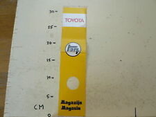 STICKER,DECAL TOYOTA  MAGAZIJN MAGASIN YELLOW LARGE STICKER FOLDED 31 CM