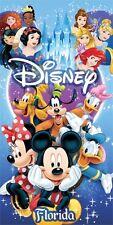 Disney Spectacular All Cast Ariel Mickey Snow White Belle Beach Towel 30 x 60