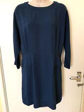 Mango Navy Blue 3/4 Sleeves Short Dress Size M, Uk10 Zara Group