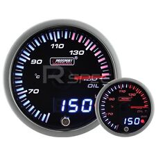 JDM 60mm Smoked Style Oil Temp Deg C Dual Stepper Motor Gauge with warning