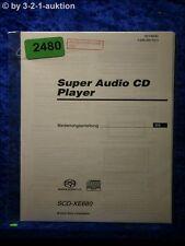 Sony Bedienungsanleitung SCD XE680 Super Audio CD Player (#2480)
