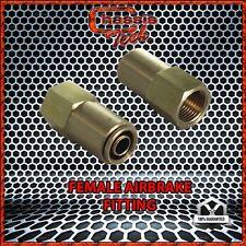 "D.O.T. Brass Pneumatic Air Quick Coupling 3/8"" Tube X 1/4"" Female NPT 1PCS (DA)"