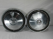 "Vintage FORD HUBCAPS 15"" 1976-89 F100-F350 Chrome Ring Hot Rod Rat Rod LOT OF 2"