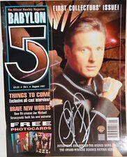 BABYLON 5 : Babylon 5 Monthly Magazine, Issue 1, signed by Claudia Christian