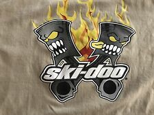 ski-doo racing team  t-shirt Rotax Flaming Pistons XPS BRP Large Rare Awesome