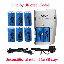 AC+8X 3.7V CR123A 16340 Li-ion Rechargeable Battey Fit Ultrafire LED Torch by UK