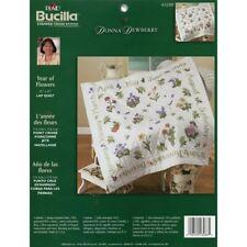 Bucilla/Donna Dewberry vuelta Colcha Estampada Cross Stitch Kit-año de Flores -