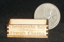Chesapeake Bay Fresh Clams Crate 1:12 Food Market Dollhouse Miniature Seafood