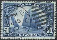 Canada #158 used VF+ 1929 Scroll 50c Bluenose Montreal SON CDS CHOICE!!
