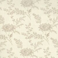 French General Favorite Oyster Flowers on Pearl Cream, Moda, Sold by 1/2 Yd