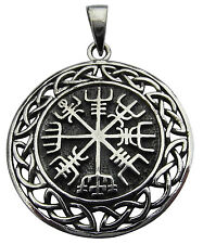 Sterling Silver (925)  Vegvisir  Asatru  Compass  Celtic Pendant  !!    New  !!