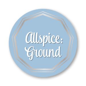 "AllSpice 315 Preprinted Water Resistant Round Spice Jar Labels Set 1.5""-"