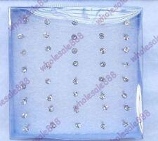 Stud Round Clip - On Plastic Costume Earrings