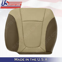 2002 - 2004 Chevy Trailblazer Front Driver Bottom Leather Seat Cover 2-Tone Tan