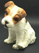 Terrier Dog sitting down by Harvey Knox HHH label detached