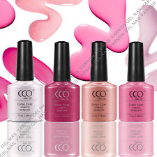 CCO PINK GEL COLOURS COLLECTION 4 COLOURS SET GELS NAIL POLISH VARNISH SHELLAC