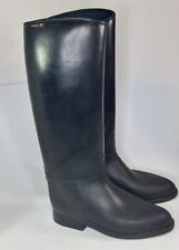 Horze Tall Riding Boots Rubber Winter Lined Black Size 9.5 US Equestrian