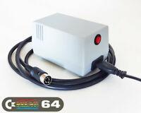 C64 PSU - Commodore 64 Power Supply - GRAY, LED, Power Switch (US plug)
