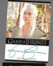 Emilia Clarke Season 1 Game of Thrones autograph card CORNER WEAR
