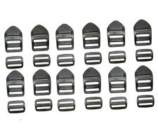 "Ladder Lock, for 1"" Inch Webbing, w/ Webbing Slider,  Acetal Plastic,12 Pc. Set"