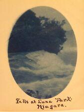 CYANOTYPE RPPC FALLS AT LUNA PARK NIAGARA UDB POST. 1906 REAL PHOTO POSTCARD #07