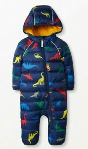 NEW Hanna Andersson INSULATED Dinosaur Full Zip DOWN Snowsuit, Size 80 18-24m