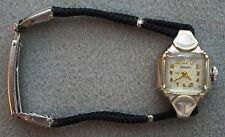 Vintage Women's Bulova 14K White Gold Art Deco Watch Swiss Mechanical