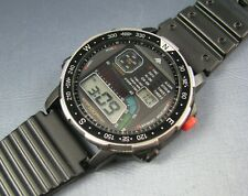 Vintage Citizen Windsurfer LCD Digital Chronograph Mens Watch  D060 086970k 1988
