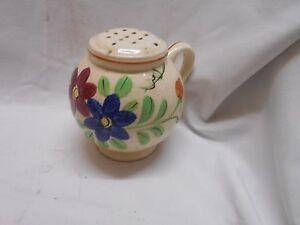 vintage Japan sugar shaker with pink & blue  flowers  finger hold shakers