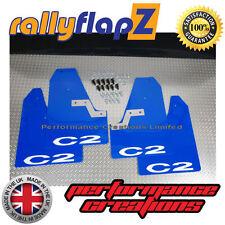 Budget Gamme Rallye Bavettes fixations Citroen C2 3 mm PVC bleu logo C2 Noir