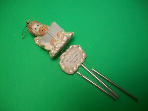 "Angel & Teddy Bear ~ Wind Chime ""Big Or Small, God Loves Us All"" ~ 8"" Long"