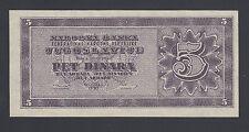 Yugoslavia 5 Dinara 1950 AU-UNC P.67R,  Banknote, Uncirculated