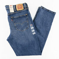 Levis 550 Relaxed Fit Stretch Tapered Leg Mens 38x36 Medium Wash Denim Jeans