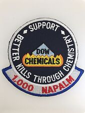 U.S. Army Vietnam War Dow Chemicals 'Better Kills through Chemistry' cloth patch