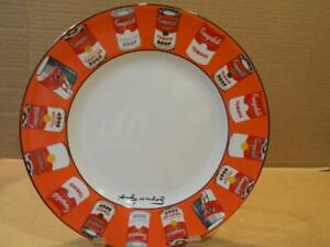 """Andy Warhol Campbell Soup 10 1/2 """" Dinner Plate by Block Discontinued (C)"""