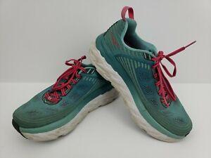 Hoka One One W Bondi 6 Womens Running Shoes Size 8 Aqua 1019270 Read Description