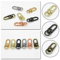 10pcs Metal Key Ring Buckle Swivel Lobster Hooks Keychain Making DIY Accessories