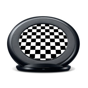 Vinyl Decal Skin for Samsung Fast Charge - Black and White Checkers