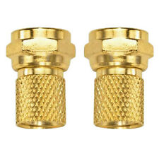 Eagle Twist-On Gold Plated Coaxial F Connector RG6 2 Pack Coax Cable Ends