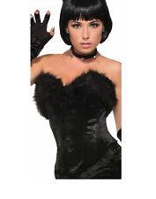 Black Cat Kitty Womens Adult Animal Costume Accessory Black Fur Top Corset-Std