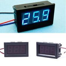 DC 0-30V Blue LED 3-Digital Display Voltage Voltmeter Panel Motorcycle #01 DH