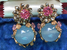 Vintage Miriam Haskell Rhinestone Earrings