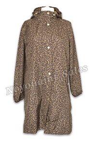 Joules Waybridge Waterproof Raincoat with Mesh Lining Tan Leopard Size UK 14 NEW
