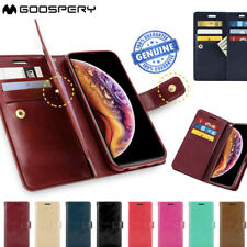 iPhone X XS Max Case 8 7 6 Plus Goospery Mercury Leather Wallet Cover for Apple